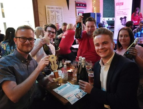 Success for team Hallmark Branding at the Glu Recruit charity quiz night!
